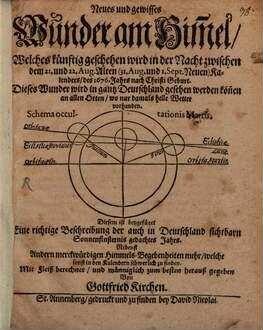 Neues und gewisses Wunder am Himmel, welches künftig geschehen wird in der Nacht d. 21. und 22. Aug. 1676 J.