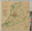 Oeding (Südlohn) - Leitplan - 1959/60 - 1 : 10 000 - 77 x 77 - Einzeichnung in Pause - Regierung Münster