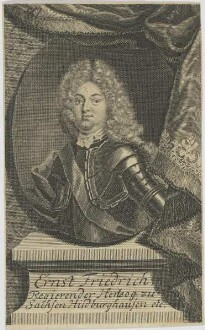 Bildnis des Ernst Friedrich, Hertzog zu Sachsen Hildburghausen