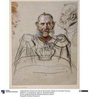 """General Karl Graf von der Groeben. Studie zum Gemälde """"Krönung Wilhelms I. in Königsberg"""""""