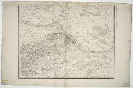 Umgebungskarte von Wien, 1:85 000, Radierung, um 1800