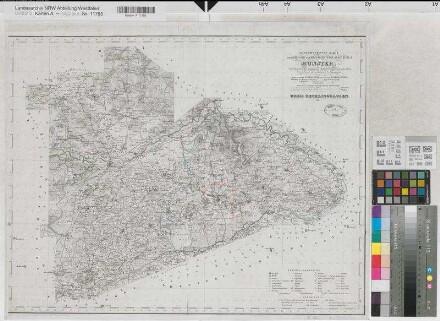 Recklinghausen (Kreis) - Kreiskarte - 1844 - 1 : 80 000 - 48 x 63,5 - Druck: H. Mahlmann - Stierlin, Steuerrat; Schmeltzer, Leutnant - B Nr. 62