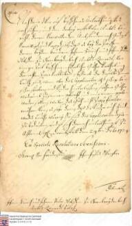 Verordnung: Die jetzt erfolgte Güterteilung in Ober-Breidenbach an die Brüder Wolff soll zurzeit bestehen bleiben, aber wenn dieselben sterben, müssen diese Güter wieder zusammengelegt werden