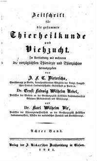 Zeitschrift für die gesammte Thierheilkunde und Viehzucht, 8. 1841