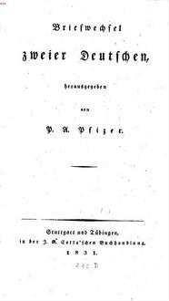 Briefwechsel zweier Deutschen