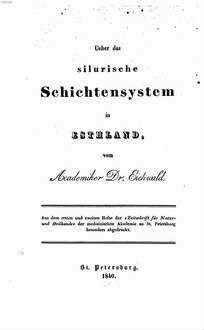 Ueber das silurische Schichtensystem in Estland