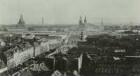 Dresden-Neustadt. Blick vom Turm der Dreikönigskirche nach Süden über die Hauptstraße zur Altstadt