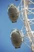 London Eye ist das größte Riesenrad der Welt, die 32 Kabinen für je 25 Passagieren sehen aus wie Weltraumkapseln, Detailbild