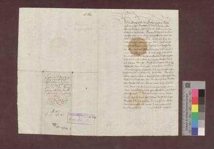 Abt Bernhard von St. Gallen belehnt Georg Buol, Amtschreiber der Herrschaft Ebringen, mit dem Blutbann daselbst.