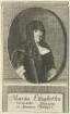 Bildnis der Maria Elisabetha, Verwittibte Koenigin in Spanien Philippi V.