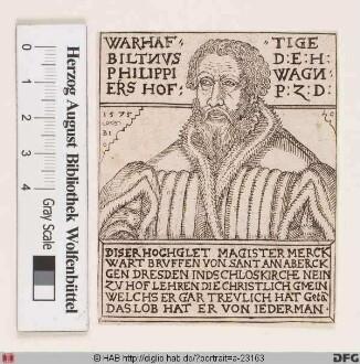Bildnis Philipp Wagner