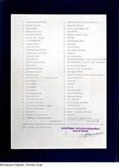 Lagerschein Nr. 3694 vom 24.05.1940 mit Verzeichnis der einzulagernden Gegenstände Victor Klemperers. Rückseite