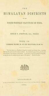 Statistical, descriptive and historical account of the northwestern provinces of India; Vol. 11