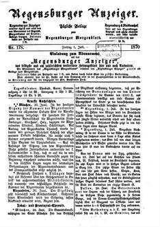 Regensburger Anzeiger. 1870,7-12, 1870, 7 - 12