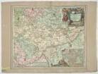 Gebietskarte von Ulm, 1:100 000, Radierung, um 1709