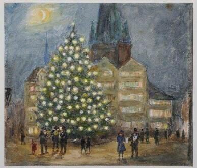 Kiel, Weihnachtsmarkt auf dem Marktplatz