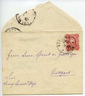 LEWALD-STAHR Fanny 1879-11-11, Briefumschlag
