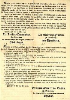 Maueranschlag, Provenienz: Stadtarchiv Düsseldorf