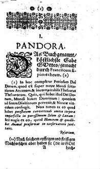 Compendium alchymisticum novum sive Pandora explicata