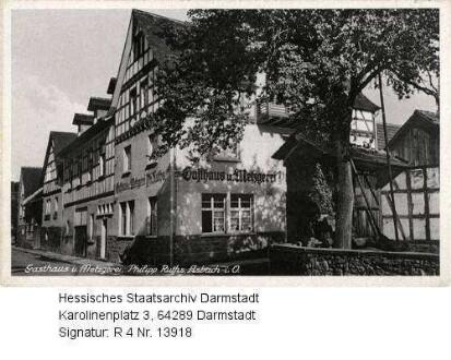 Asbach im Odenwald, Gasthaus und Metzgerei Philipp Ruths