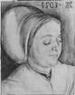 Brustbild einer Frau, vermutlich Agnes Dürer / Bildnis der Crescentia Pirckheimer