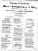 Programm zur Festproduction des Männer-Gesangvereines in Wien, bei dem von der Kommune Wien am 15. August 1860 zur Feier der Eröffnung der Kaiserin-Elisabeth-Westbahn im k. k. Augarten veranstalteten Feste