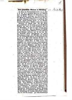 Bericht über das germanische Museum in Nürnberg, dat. Nürnberg, 19. August 1868 : (Zeitungsausschnitt aus der Südd. Presse.)