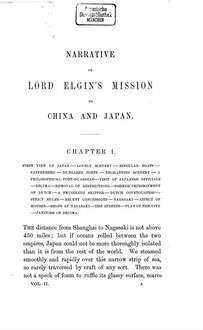 Narrative of the Earl of Elgin's Mission to China and Japan in the Years 1857, '58, '59. 2
