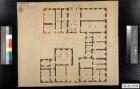 """Grundriss des ersten Geschosses der vom                                                  Hof genutzten Häuser (""""Frau Mutter Hauß"""") an der                                                  Schlossstraße (""""Schlossgasse"""")"""