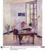 Der Holzschneider Heine Rath am Arbeitstisch