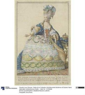 Cahier de la Collection d'Habillements Modernes et Galants: Marie Antoinette, Archiduchesse d'Autriche