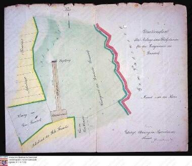 Lageplan zur Anlage eines Schiessstandes des Kriegervereins zu Storndorf