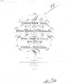 Troisième trio pour piano, violon et violoncelle : op. 8