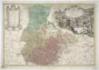 Karte vom Fürstentum Jauer, 1:150 000, Kupferstich, 1736