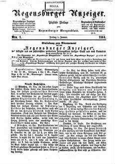 Regensburger Anzeiger. 1864,1-4, 1864, 1 - 4