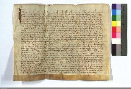 Vertrag zwischen dem Deutschen Orden und dem Geistlichen Heinrich von Heskem über die Pfarrei Grosz-Seelheim.