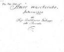 Amor mascherato, V (2), orch, bc - BSB Mus.ms. 6313 : [cover title:] Galuppi // Amor mascherato // Intermezzo [title page:] Amor mascherato, // Intermezzo // del // Sigr. Balthasar Galuppi // detto Buranello