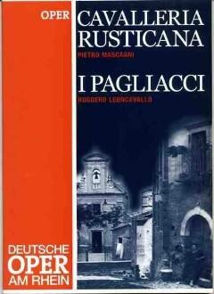 """Programmheft """"Cavalleria Rusticana, I Pagliacci"""" von Pietro Mascagni und Ruggero Leoncallo. Premiere am 14.2.2003 an der Deutschen Oper am Rhein, Opernhaus Düsseldorf"""