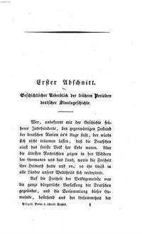 Über die Entwicklung des öffentlichen Rechts in Deutschland durch die Verfassung des Bundes
