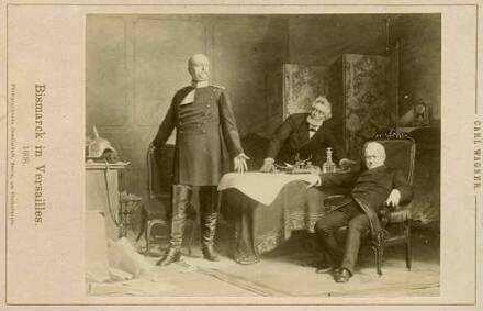 Gruppenbild Mit Drei Personen Fürst Otto Von Bismarck Herzog Zu