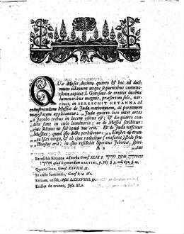 D. Io. Henr. Callenbergii ... commentatio de christologia Iudaica ad Geneseos capitis primi comma XIIII. et XXIIII. in Novo Testamento evoluta