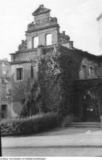 Dresden, Neustadt, Jägerhof, Ruine (Sitz des Museums für Sächsische Volkskunst), nach 1945