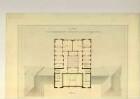 Entwurf für ein physikalisch-chemisches Laboratoriengebäude,                                Querschnitt der Seitenansicht