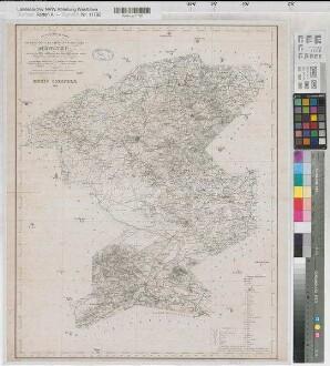 Coesfeld (Kreis) - Kreiskarte - 1847 - 1 : 80 000 - 61 x 48 - Druck: H. Mahlmann - Stierlin, Steuerrat; Schmeltzer, Leutnant - B Nr. 62