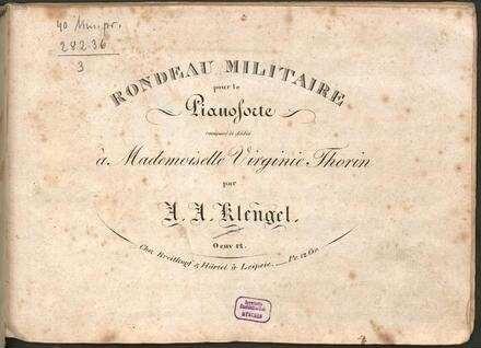 Rondeau militaire : pour le pianoforte ; oeuv. 12