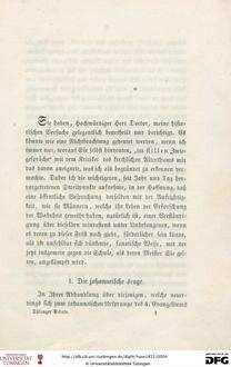 1-108 Die Tübinger Schule : ein Sendschreiben an Herrn Dr. Ferdinand Christian von Baur, ersten Professor der evangelischen Theologie an der Universität Tübingen, Ritter des Ordens der würtembergischen Krone