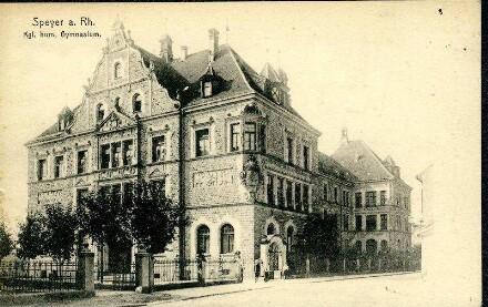 Speyer, Große Pfaffengasse 6:  - Kgl. Humanistisches Gymnasium (heute Gymnasium am Kaiserdom).