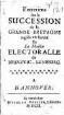 Entretiens sur la succession de la Grande Bretagne reglée en faveur de la maison électoralle de Brunswic-Luneburg