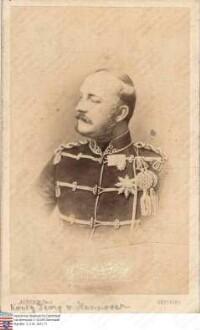 Georg V. König v. Hannover (1819-1878) / Porträt, Brustbild in Uniform, rechtsblickend