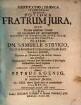 Disputatio Iuridica Inauguralis Exhibens Potiora Fratrum Iura